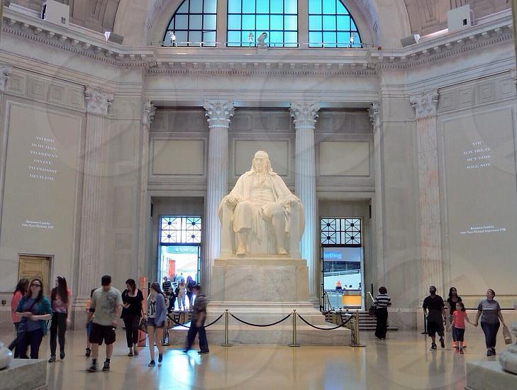 Ben Franklin Statue at Franklin Institute. Philadelphia  photo