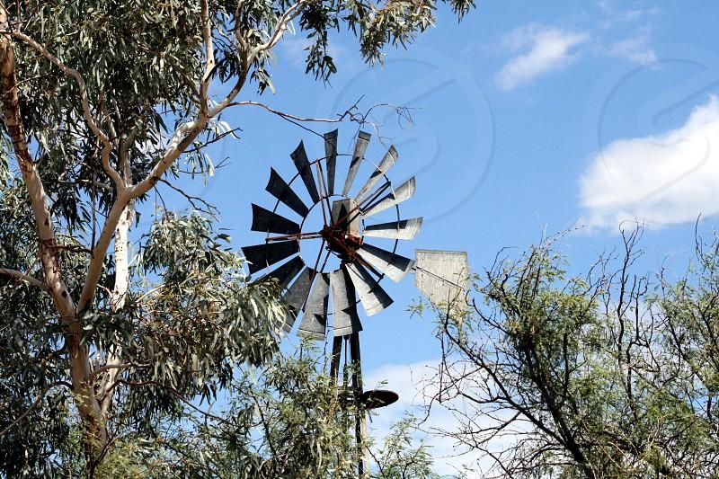 silver windmill photo