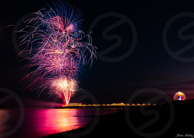 Pier Coast seaside fireworks carnival festival Sussex photo
