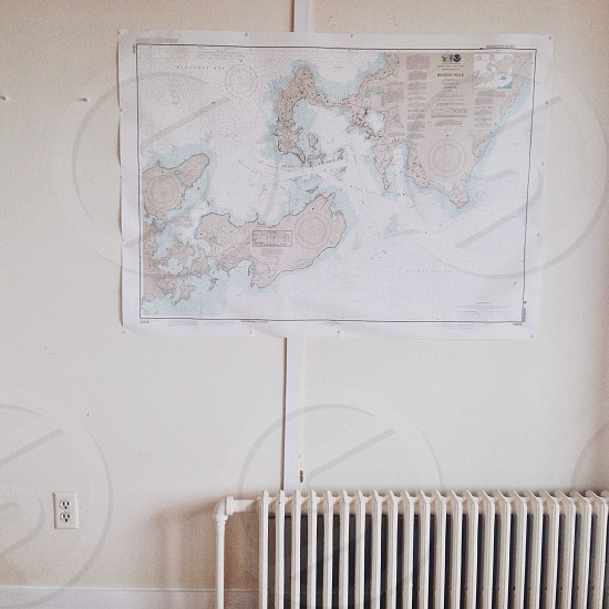 map post on wall photo