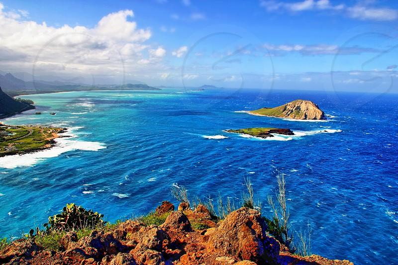 Rabbit Island at Makapuu Point - Oahu Hawaii photo
