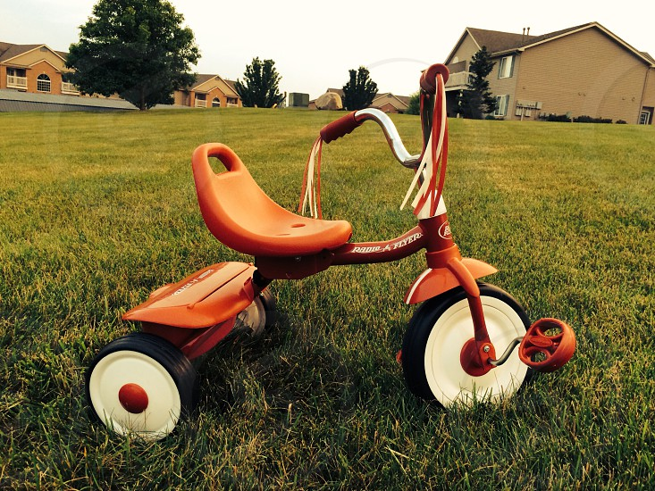 red and white Radio Flyer trike photo