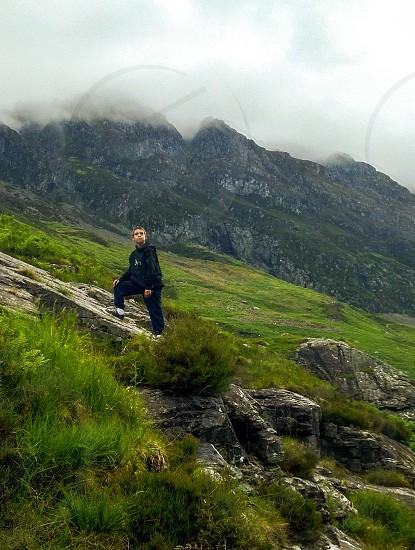 Hiking in Scotland. photo