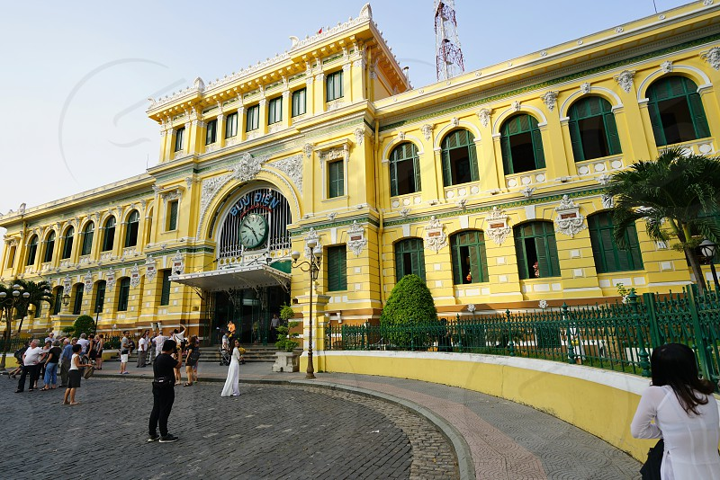 The Saigon Central Post Office building in Ho Chi Minh City photo