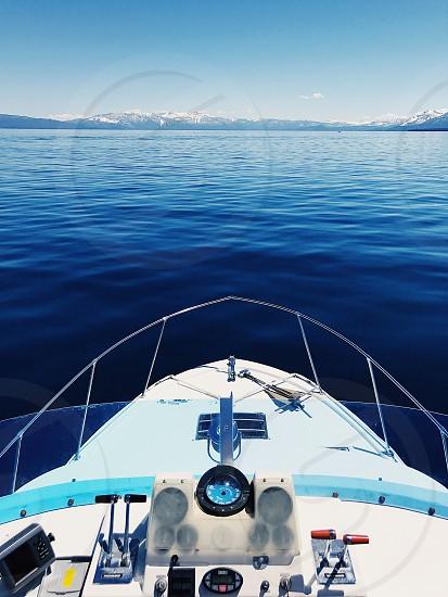 Boat Tahoe lake simple clean photo