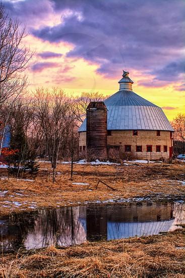 Linden Round Barn near Cambridge Minnesota    photo