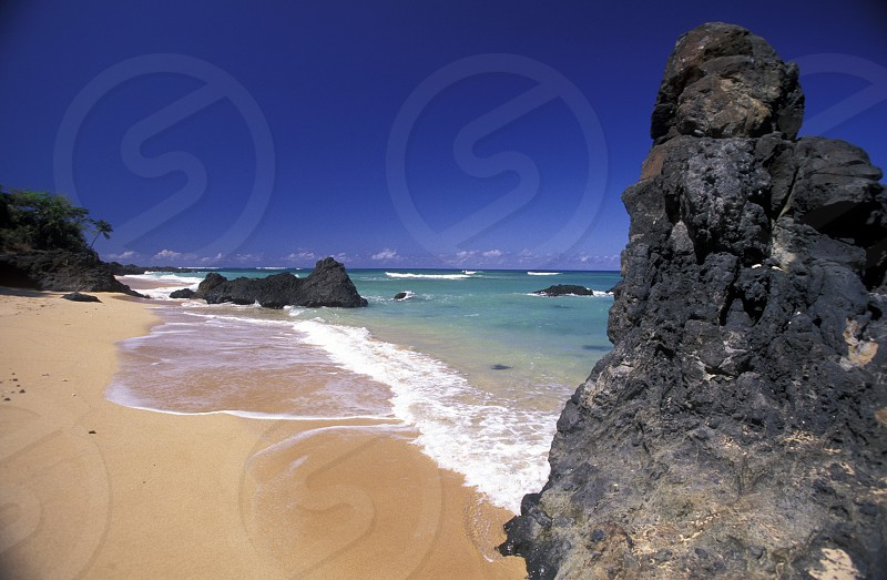 the beach of the village Moya on the Island of Anjouan on the Comoros Ilands in the Indian Ocean in Africa.    photo