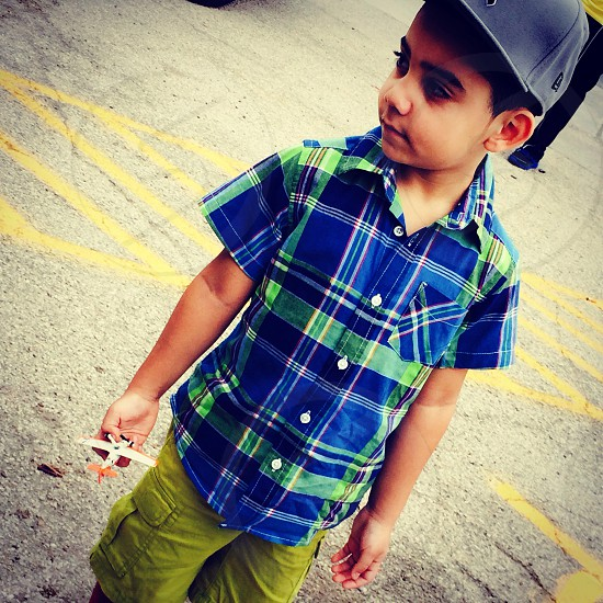 A boy in Austin.  photo