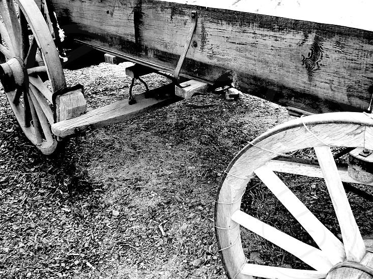 """Black an White Wagon"" photo"