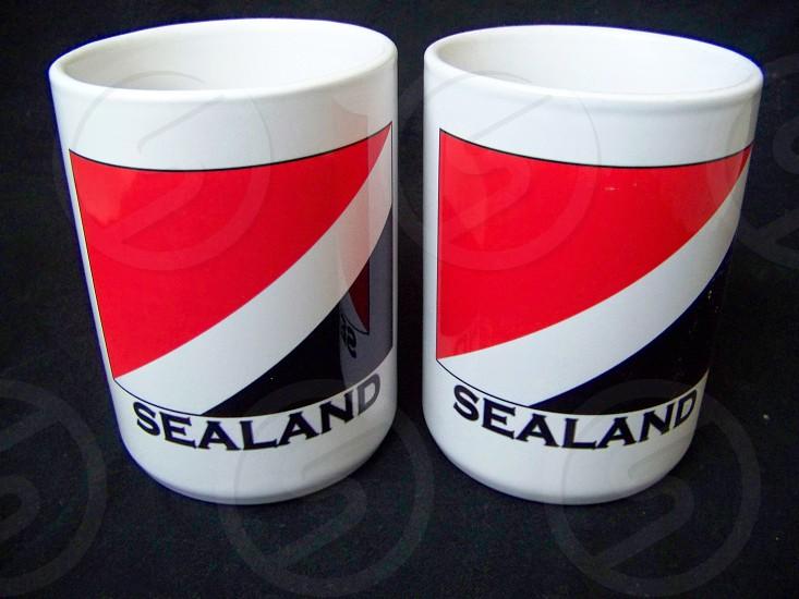 Sea land coffee cups photo