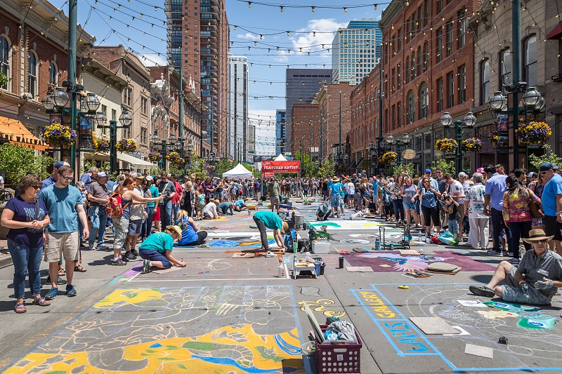 Impressions from the chalk art festival in Denver Colorado photo