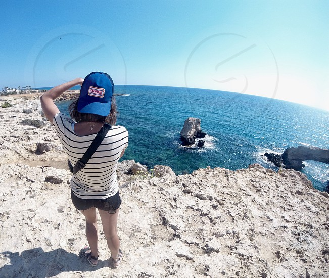 Photographer at the Cyprus seaside photo