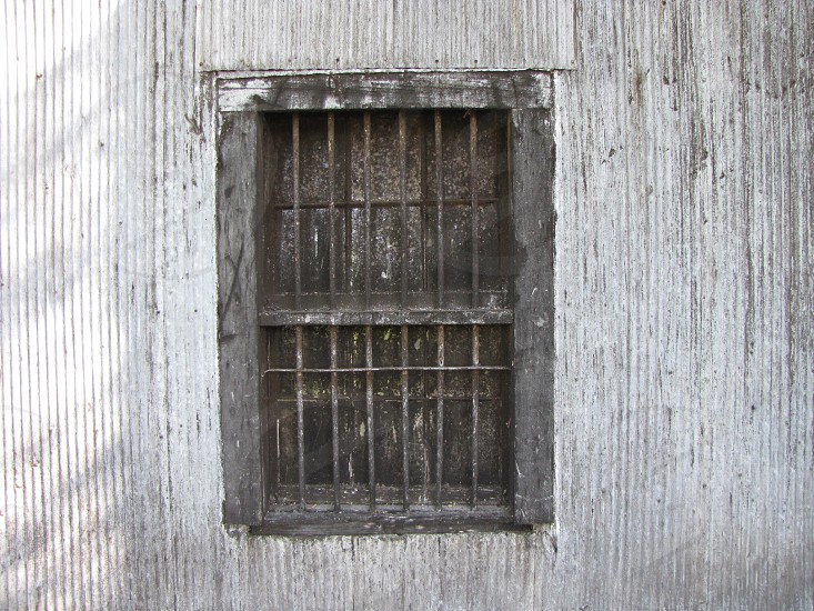 Old window with bars photo