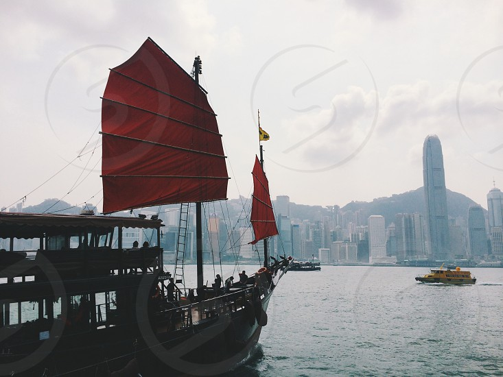Hong Kong sail away. photo