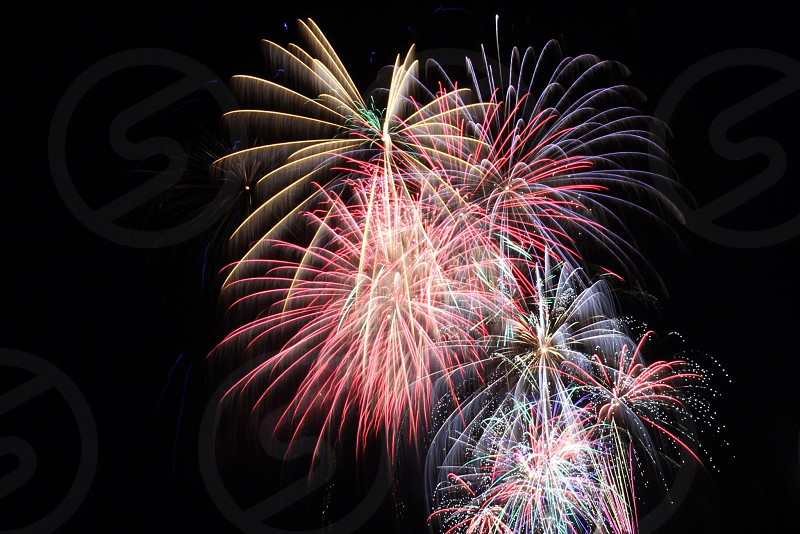 4th of July fireworks summer family friends explosion TNT bang boom photo