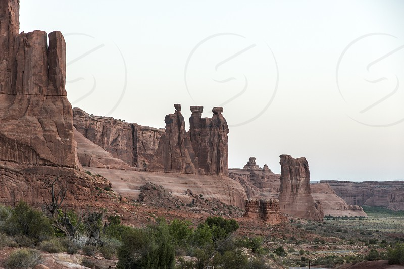 The three Sisters in Arches National Park - Moab photo