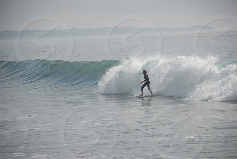 surfer in water photo