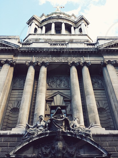 The Courts of Justice (Old Bailey) in London. photo