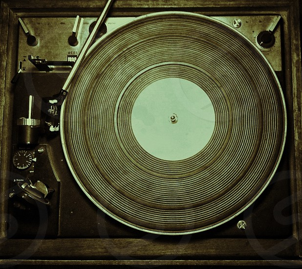 brown phonograph photo