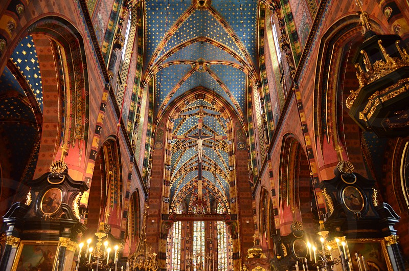 brown church interior photo