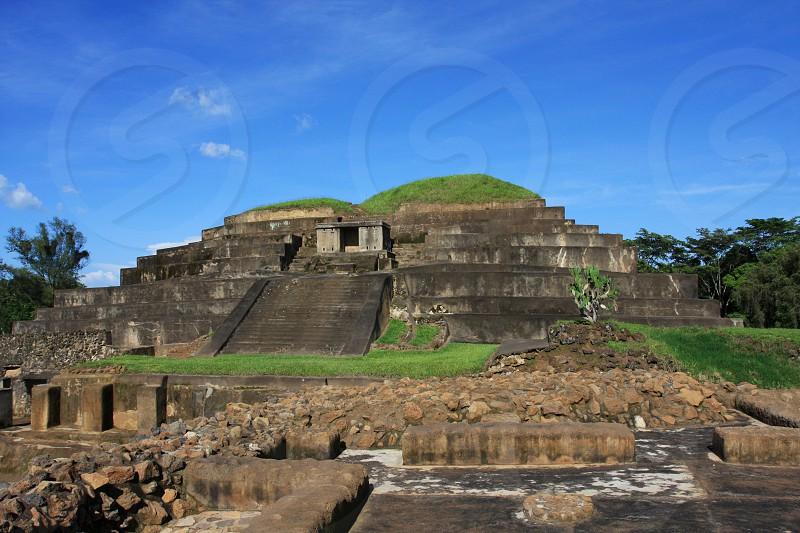 Ancient Ruins of El Salvador Ruinas Salvadoran Indigenous buildings of ancient times. photo