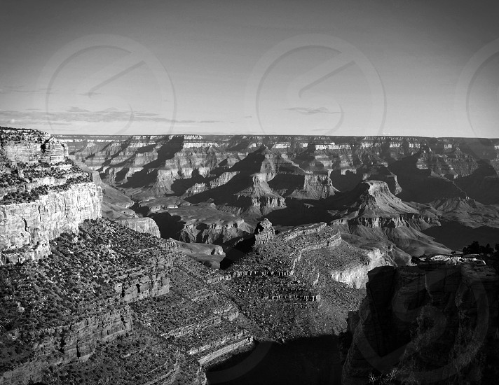 Black and white Grand Canyon photo