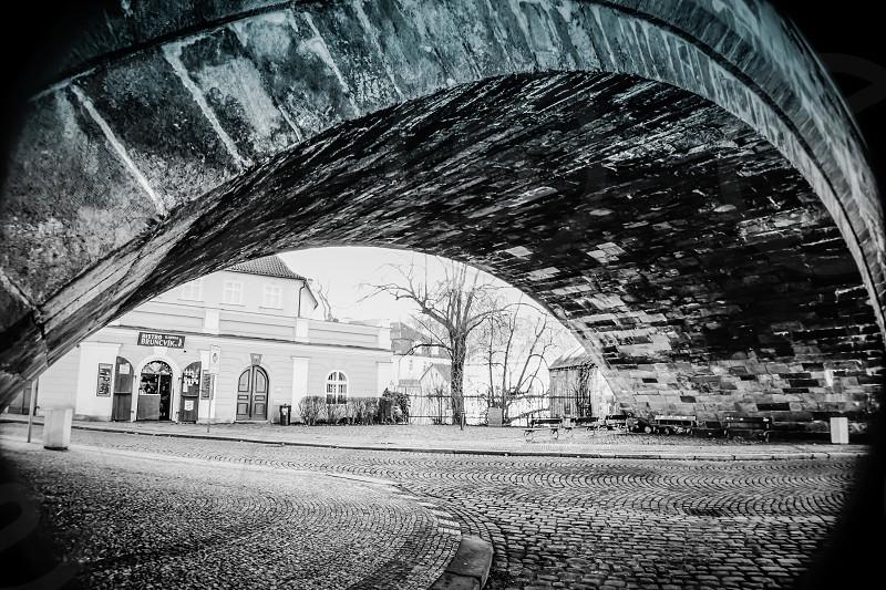Under the Bridge - Lesser Town Prague Czech Republic. photo