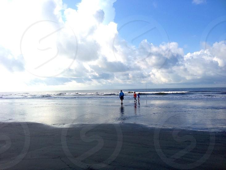 Early morning beach fishing  photo