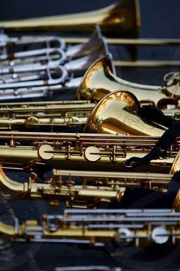 marching band instruments photo