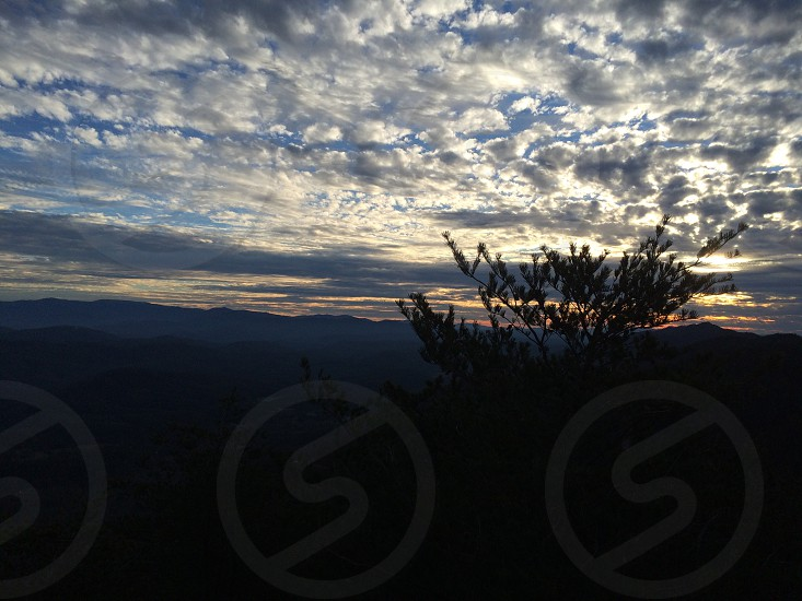 Sunset from Look Rock observation tower. Foothills parkway Blount county Tennessee photo
