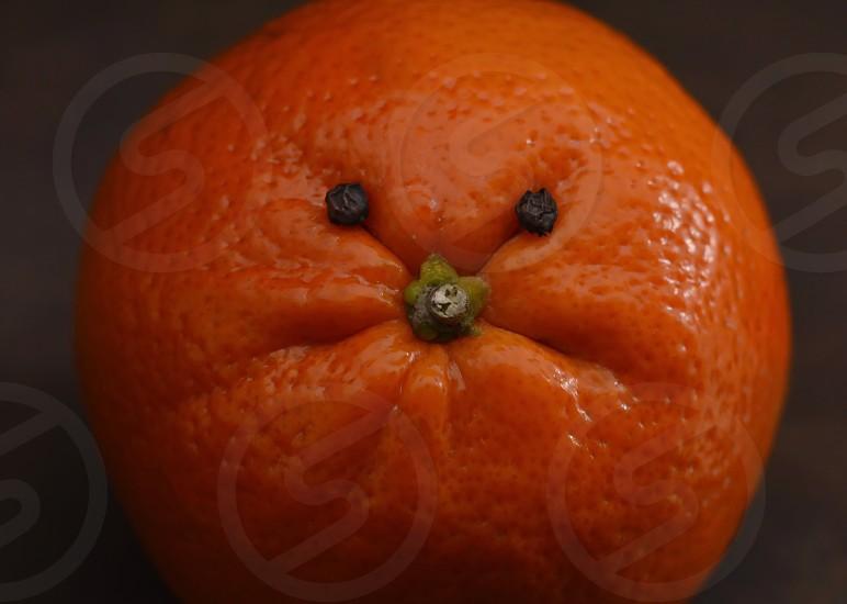 Vibrant orange face close-up fruit photo