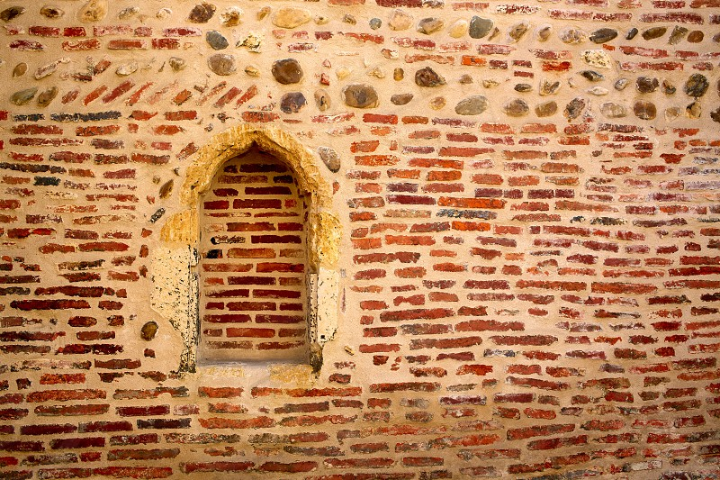 Cathedral of Leon side wall in Castilla at Spain photo