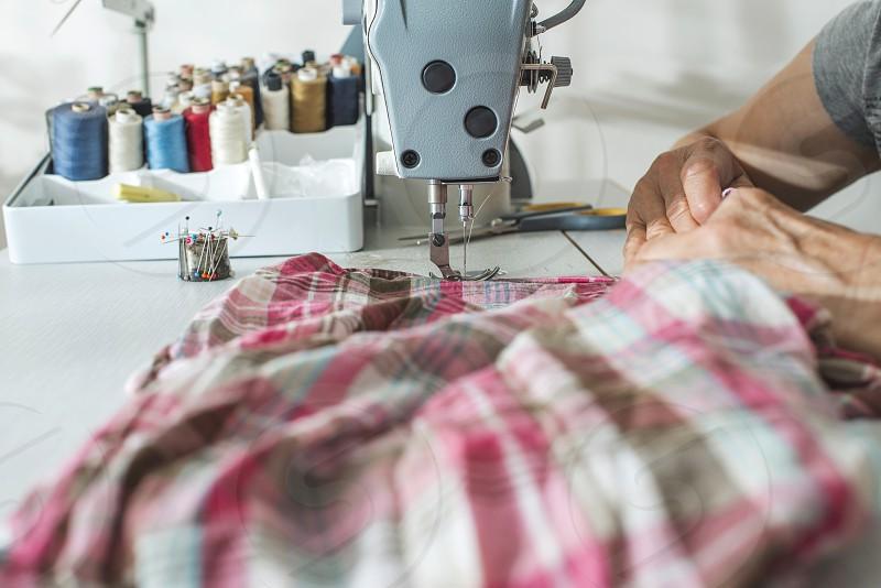 Sewing machine close up.  photo