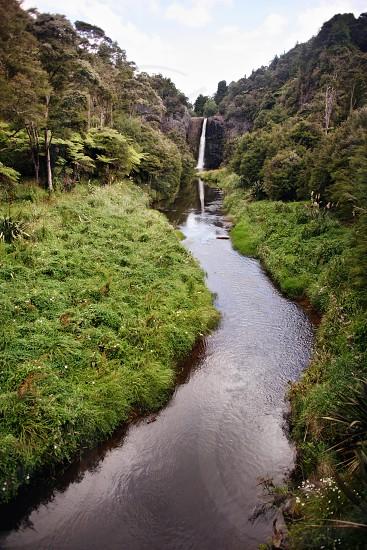 New Zealand waterfall photo