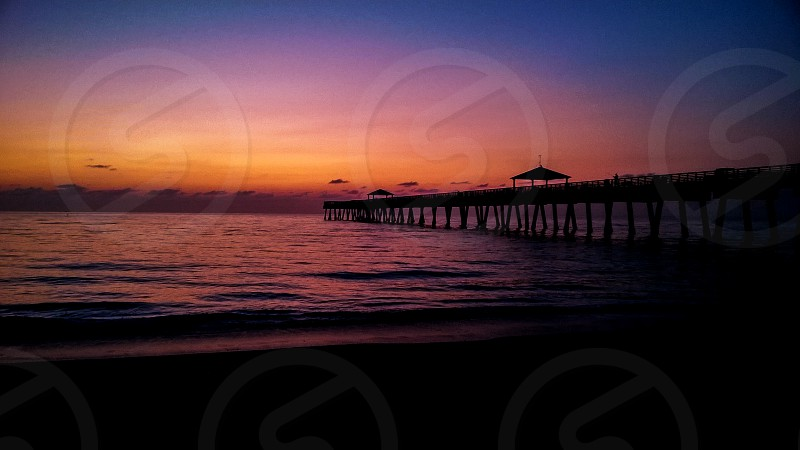 Sunrise Juno Beach Pier Florida photo