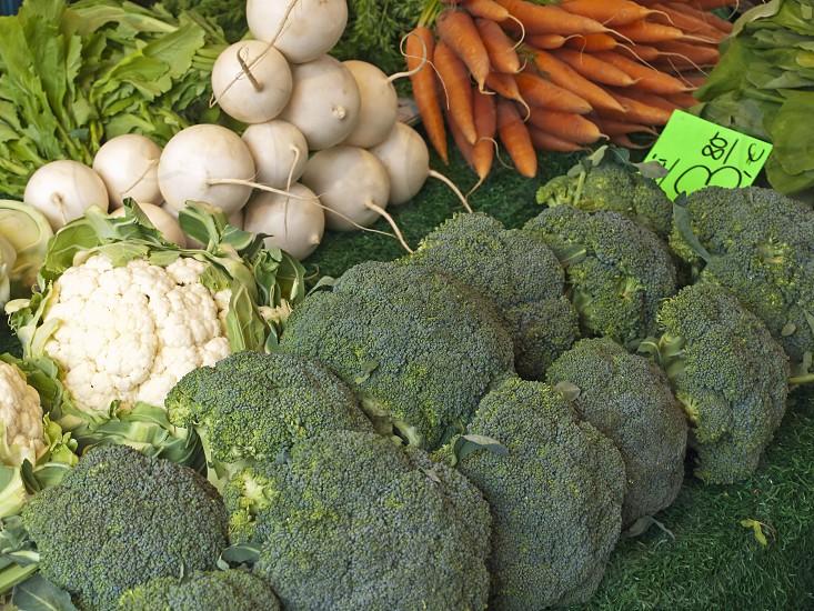 vegetables on a farmer market photo