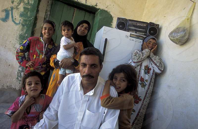 a family in the city of Deir ez zur in the east of Syria in the middle east photo