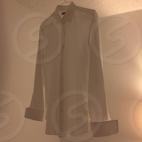 French cuff white dress shirt photo