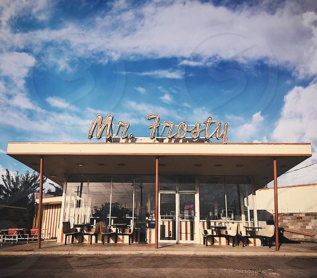 Old style hamburger/diner in Denton TX. photo