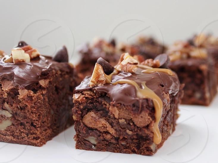 Brownies food baking cooking chocolate  photo
