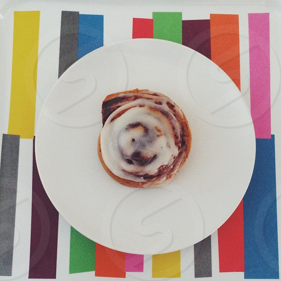 cinnamon  rolls on white surface photo