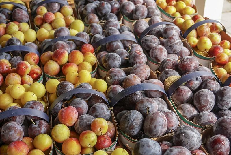 Fruits; organic; farmers market; travel; juicy; plums; Canadian fruit  photo
