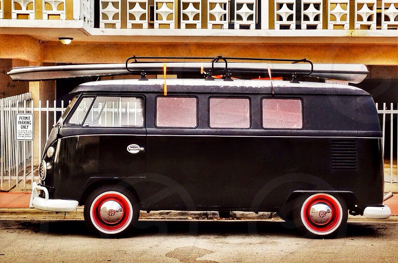 black volkswagen bus photo