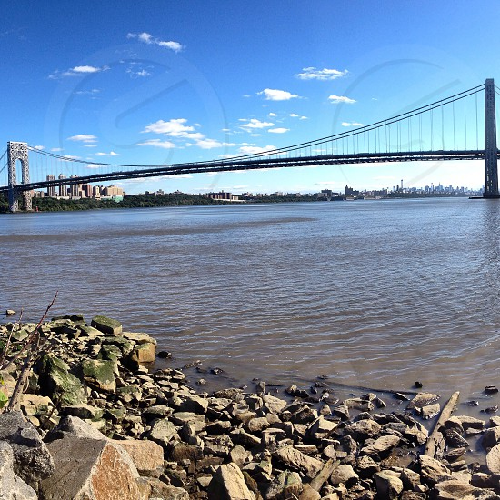 The George Washington Bridge from the NJ side.  photo