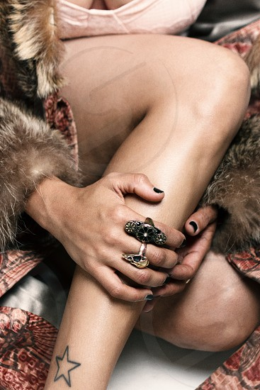 black nail polish photo