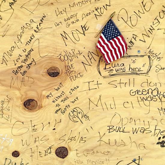 Flag graffiti  photo