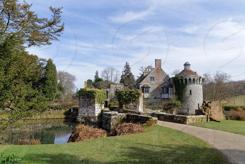 LAMBERHURST KENT/UK - MARCH 5 : View of  a building on the Scotney Castle Estate near Lamberhurst Kent on March 5 2015 photo