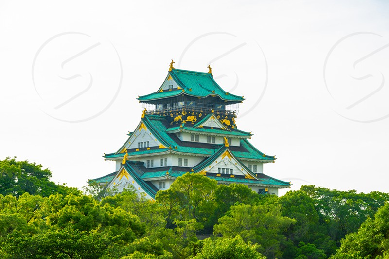 View of Osaka Castle in Osaka Japan photo