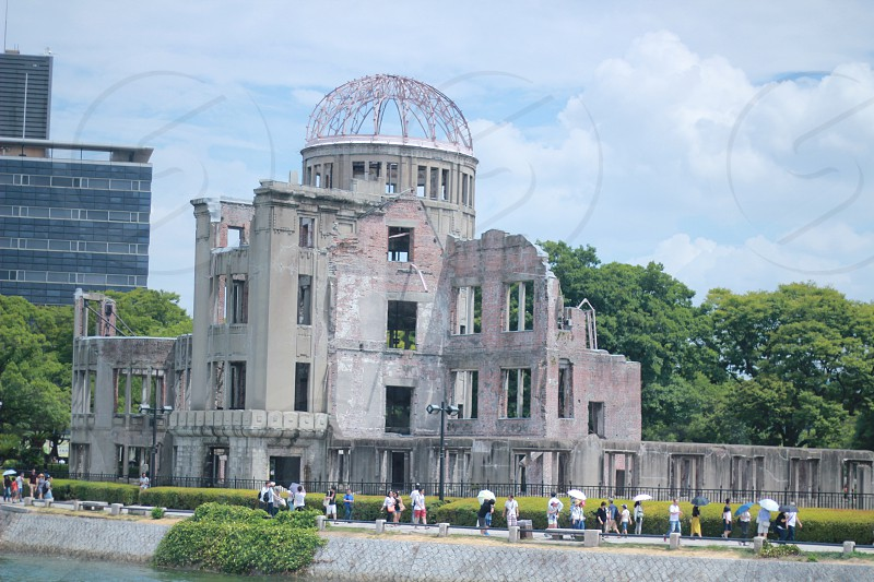 Japan iconic landmark located in Kansai area (Osaka Tottori Hiroshima Wakayama Miyajima Island) photo