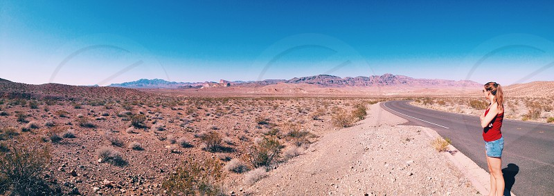 Travel Nevada Vegas desert red dry hot drive explore road trip hertz vacation photo
